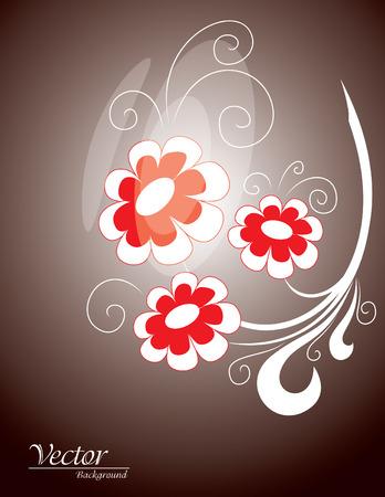 florish: Floral Background  Vector Illustration