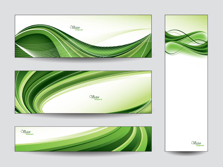 green swirl: Abstract Vector Banners  Illustration