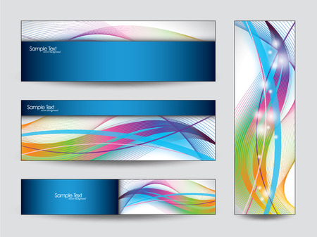 rainbow abstract: Abstract Vector Banners