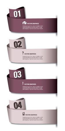 Infographics Numbered Banners