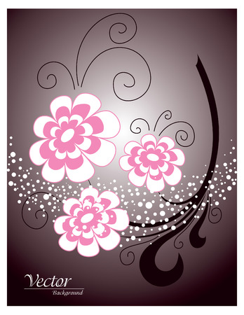 original sparkle: Floral Background   Abstract Vector Illustration