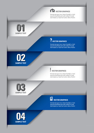 Infographics Numbered Banners   Vector Design  Vector