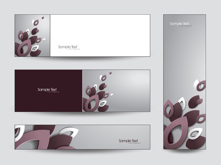 Abstract 3D Banners