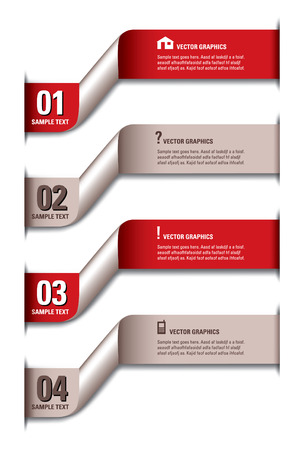 Infographics Numbered Banners Vector