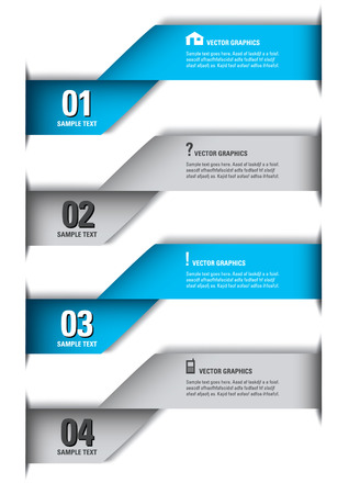 3D Numbered Banners  Vector Design   Vector
