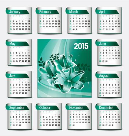 florish: 2015 Calendar. Illustration