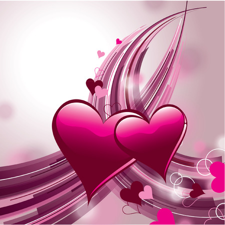 Valentines Day Background. Vector