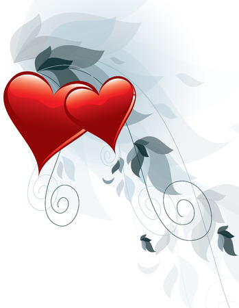 Valentines Day hearts Background. Vector