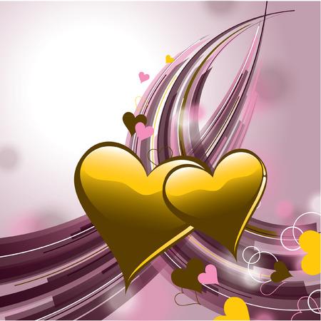 Día de San Valentín corazones Fondo.