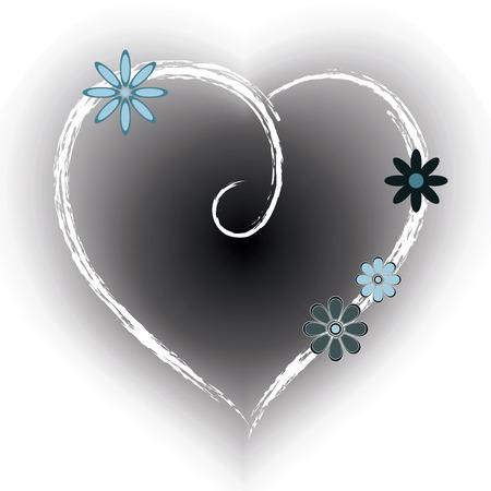 Floral Heart Shape Background.