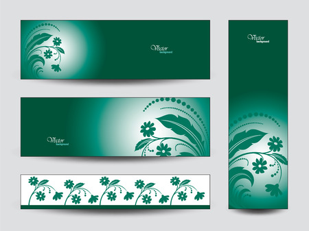florish: Banners with Flowers.