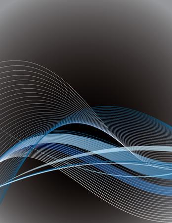 lineas onduladas: Vector de fondo con l�neas onduladas.