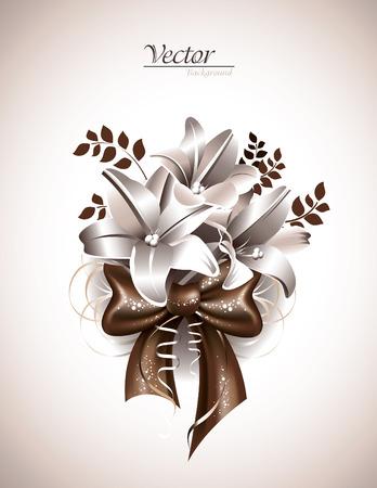 florish: Lily Flowers. Illustration