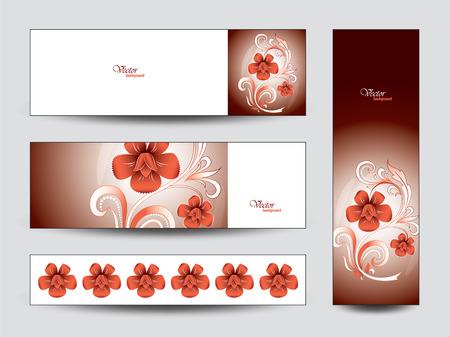 florish: Set of Floral Banners.
