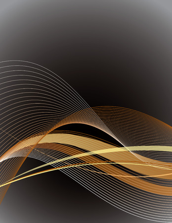 lines: Abstract Vector Background with Wavy Lines.
