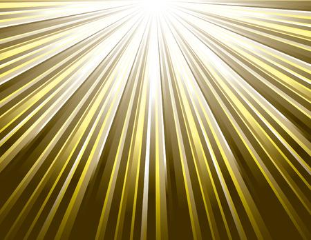 sunrays: Golden Vector Rays. Abstract Modern Background Illustration