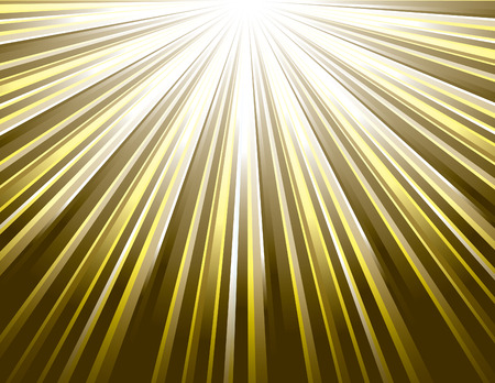 Golden Vector Rays. Abstract Modern Background Illustration