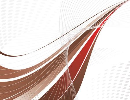 marrom: Brown Vector Swoosh. Projeto abstrato.