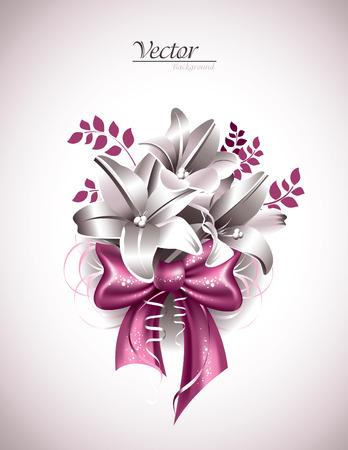 moño rosa: Lily Flores con el arco rosado.