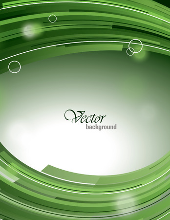 green swirl: Abstract Shiny Background. Vector Illustration with Sparkles. Illustration