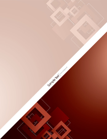 mirrow: Red Vector Background with 3D Rhombuses.