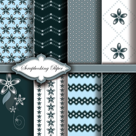 romantic: Abstract  Floral Pattern Paper for Scrapbook