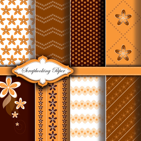 Abstract  Floral Pattern Paper for Scrapbook