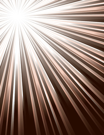 Brown Rays. Abstract Modern Background.