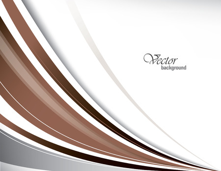 brown: Brown Vector Wavy Background. Illustration