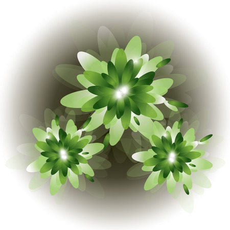abstract floral: Green Abstract  Floral Background. Illustration