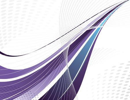 Purple Vector Swoosh. Abstract Design. Illustration