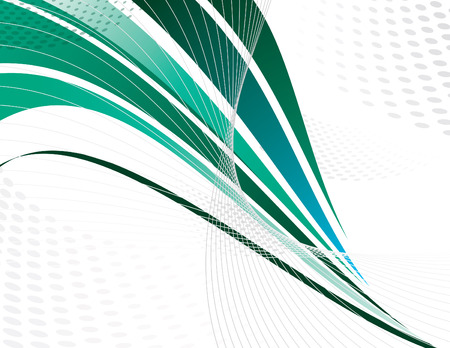 green lines: Green Vector Swoosh. Abstract Design.