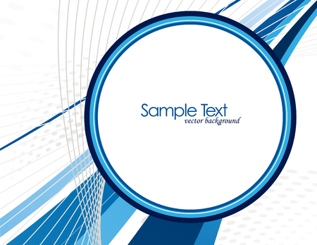 circle design: Abstract Vector Background with Blue Elements.