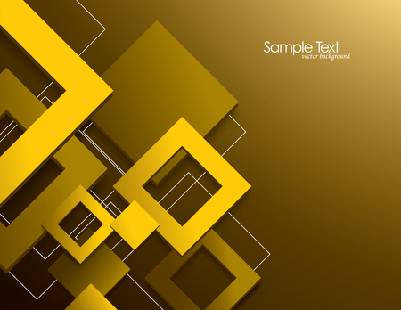 mirrow: Vector Background with 3D Rhombuses. Illustration