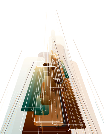 strips away: 3D Abstract Vector Dynamic Background.