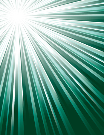 Green Vector Rays. Abstract Modern Background.