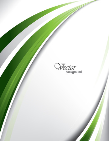 silver background: Green Vector Wavy Background. Illustration