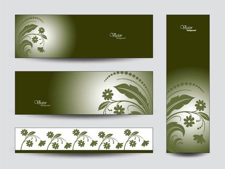 florish: Vector Banners. Floral Theme.