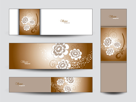 florish: Vector Banners. Floral Theme.