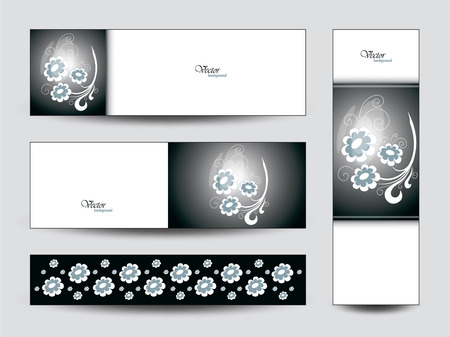 Vector Banners. Floral Theme.