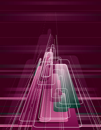 3D Abstract Dynamic Background. Vector Illustration.