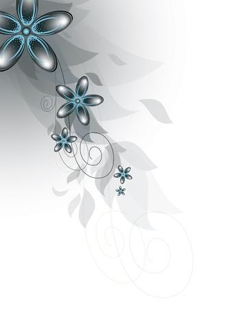 Direction Vecteur de fleurs bleues.