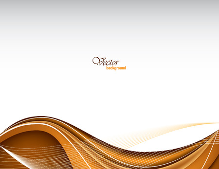 Vector Modern Orange Wavy Background. Ilustracja