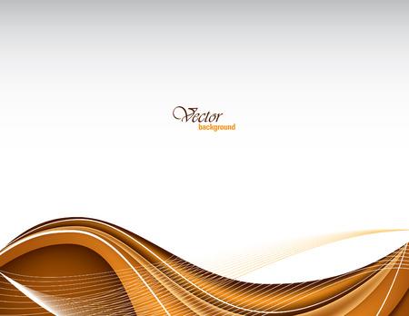 Vector Modern Orange Wavy Background. Vettoriali