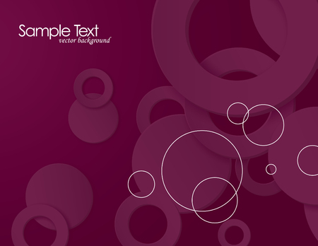 Pink Vector Background with 3D Circles. Illustration