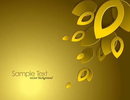 Vector Background with 3D Leaves. Illustration