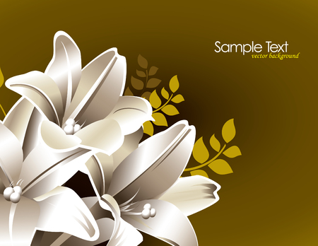 florish: Vector Lily Flowers.