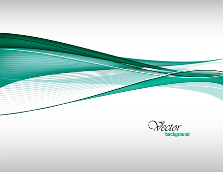 Vector Modern Green Wavy Background. Eps10.