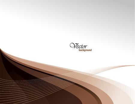 Vector Modern Brown Wavy Background. Eps10.