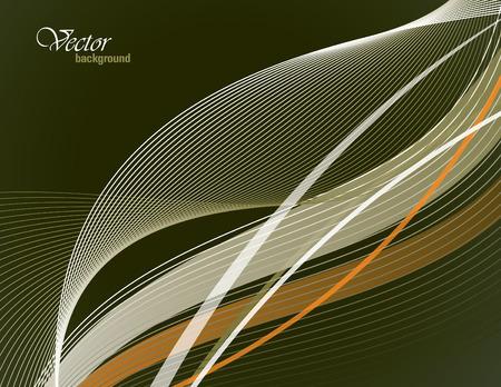 Green Vector Modern Wavy Background.